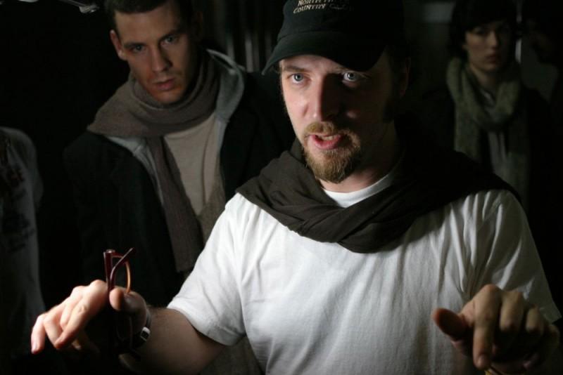 Luigi Cecinelli sul set del film Visions