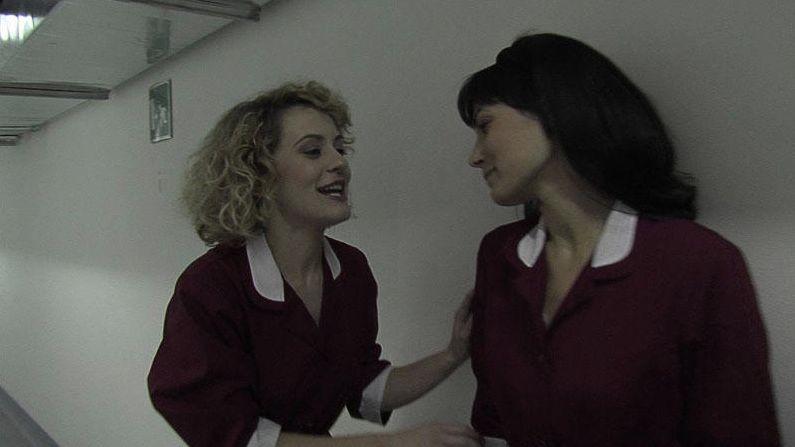 Marina Rocco e Valeria Solarino in una scena del film Valzer