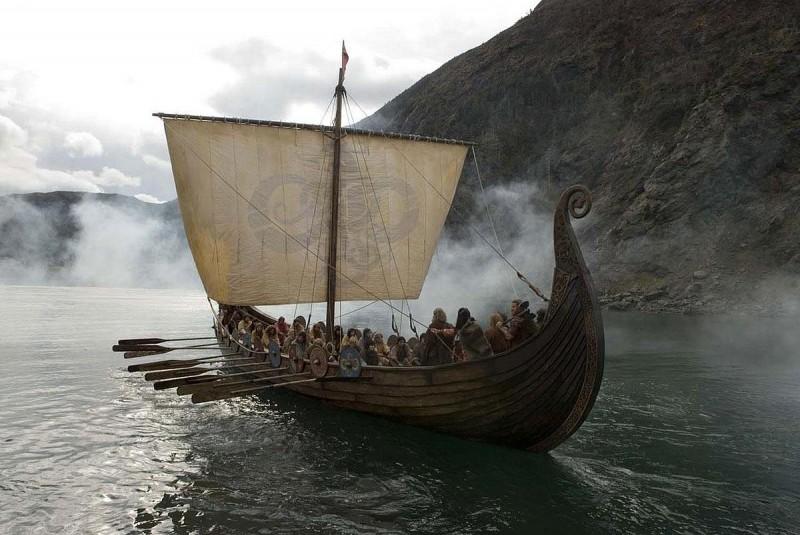 Una scena del film Outlander