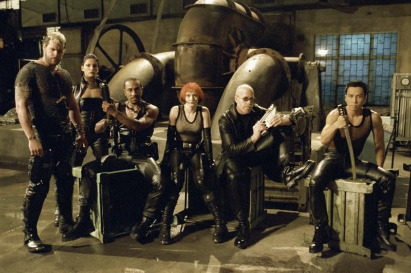 Chupa (Matt Schulze), Nyssa (Leonor Varela), Asad (Danny John Jules), Verlaine (Marit Velle Kile), Reinhardt (Ron Perlman) and Snowman (Donnie Yen) in 'Blade II'
