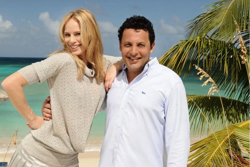Enrico Brignano sul set del film Un'estate ai Caraibi