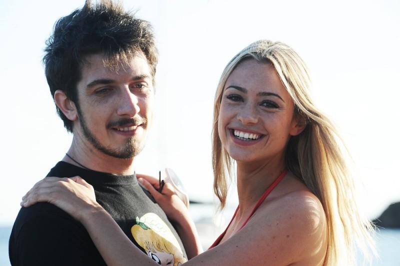 Paolo Ruffini e Martina Stella sul set del film Un'estate ai Caraibi