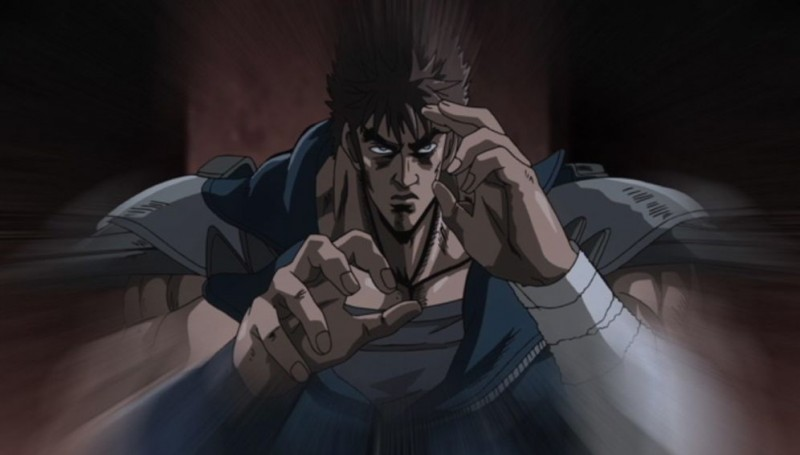 Un'immagine tratta dal film d'animazione Ken il guerriero - La leggenda di Raoul