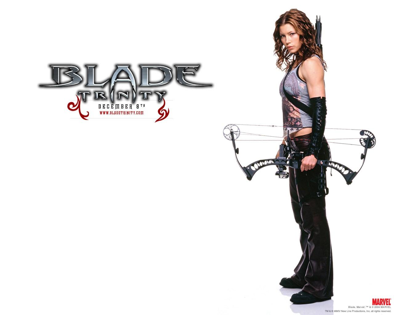 Un wallpaper di Abigail Whistler(Jessica Biel) per il film 'Blade: Trinity'