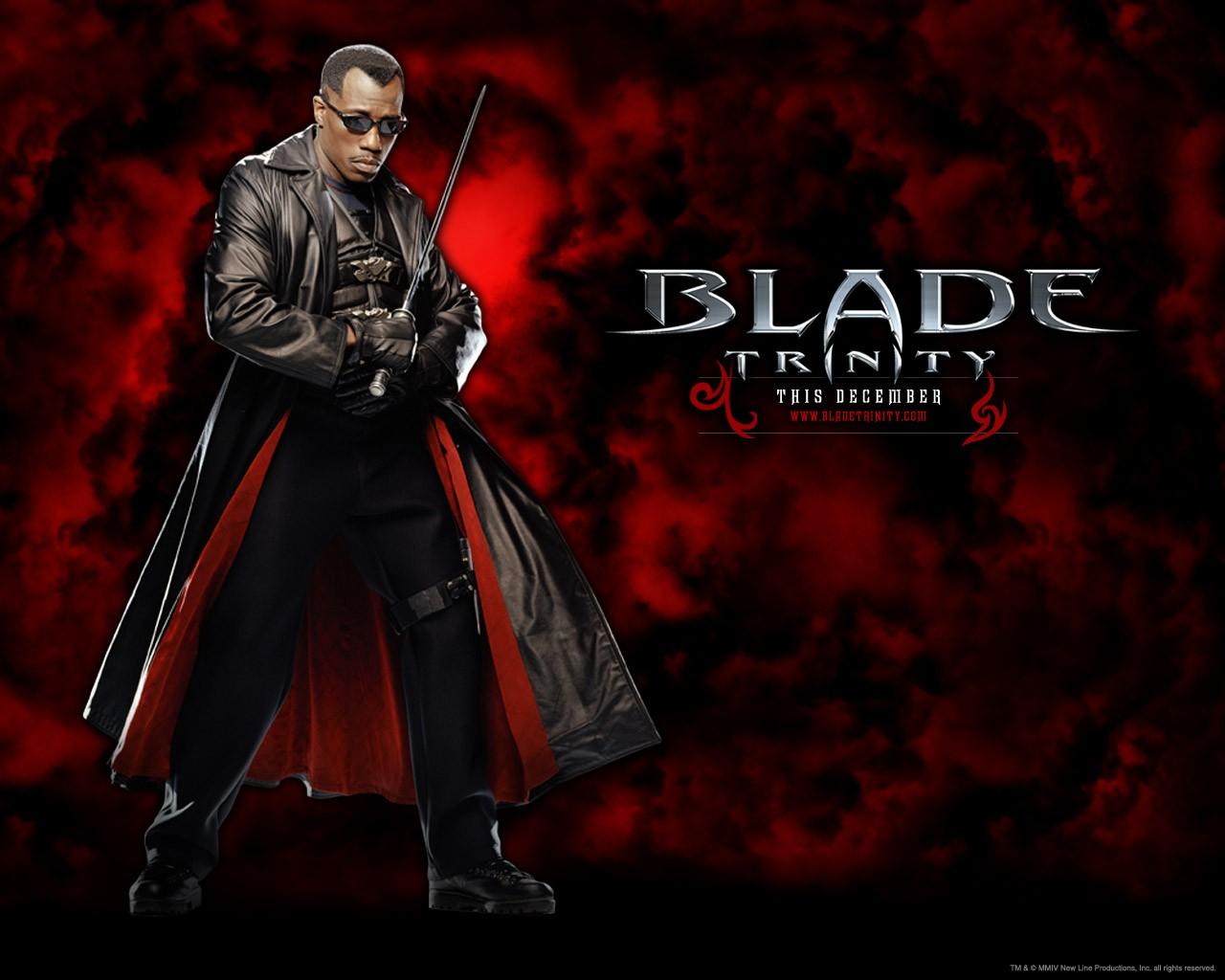 Un wallpaper di Blade(Wesley Snipes) per il film 'Blade: Trinity'