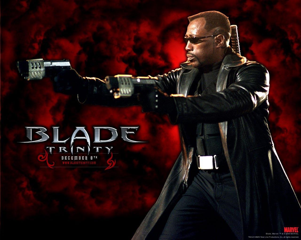 Un wallpaper di Wesley Snipes per il film 'Blade: Trinity'