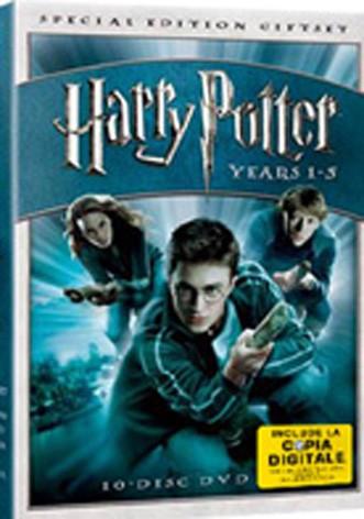 La copertina di Harry Potter box set 1-5 (con copia digitale) (dvd)