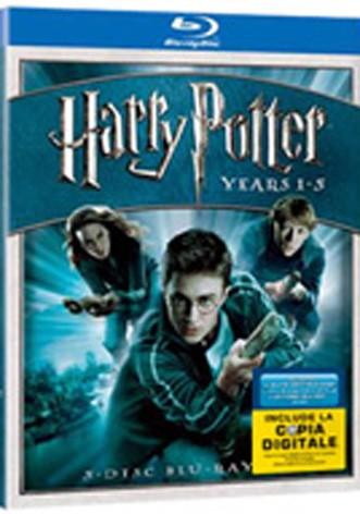 La copertina di Harry Potter box set 1-5 ed copia digitale (blu-ray)