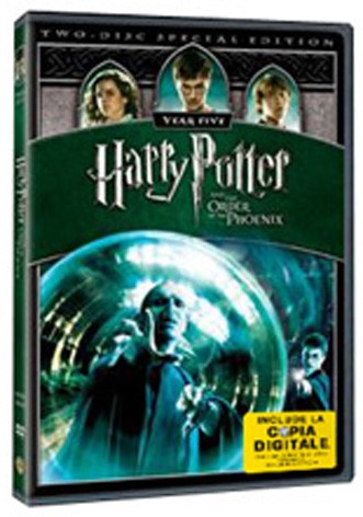 La copertina di Harry potter e l'Ordine della Fenice (con copia digitale) (dvd)