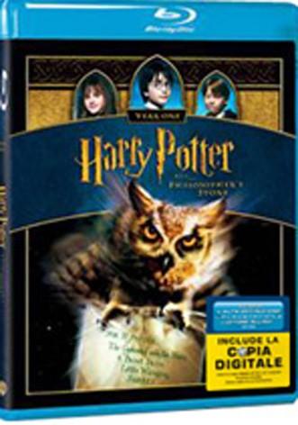 La copertina di Harry Potter e la pietra filosofale (blu-ray)