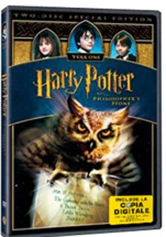 La copertina di Harry potter e la pietra filosofale (con copia digitale) (dvd)