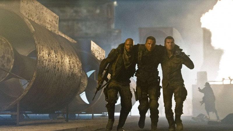 Common, Christian Bale e Sam Worthington in un'immagine di Terminator Salvation