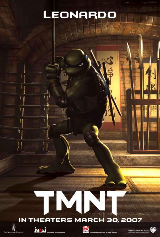 La locandina di Leonardo per il film 'TMNT: Teenage Mutant Ninja Turtles'