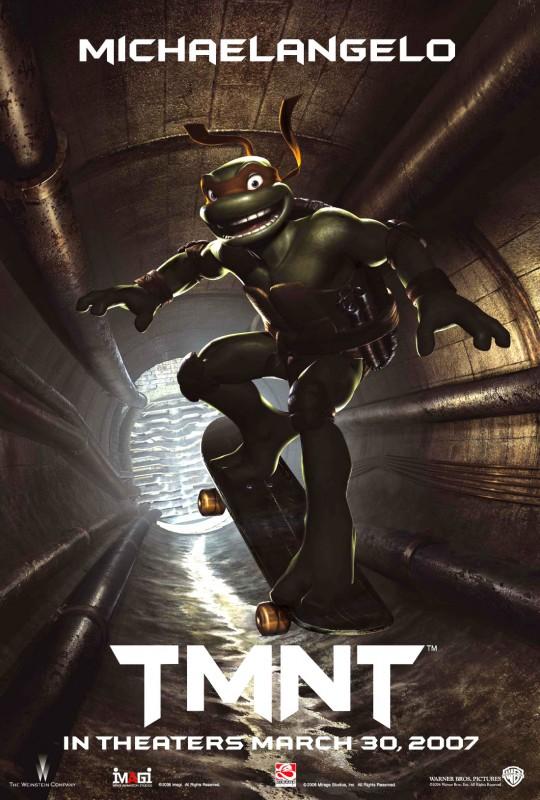 La locandina di Michelangelo per il film 'TMNT: Teenage Mutant Ninja Turtles'