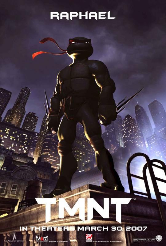 Character poster di Raffaello per il film 'TMNT: Teenage Mutant Ninja Turtles'