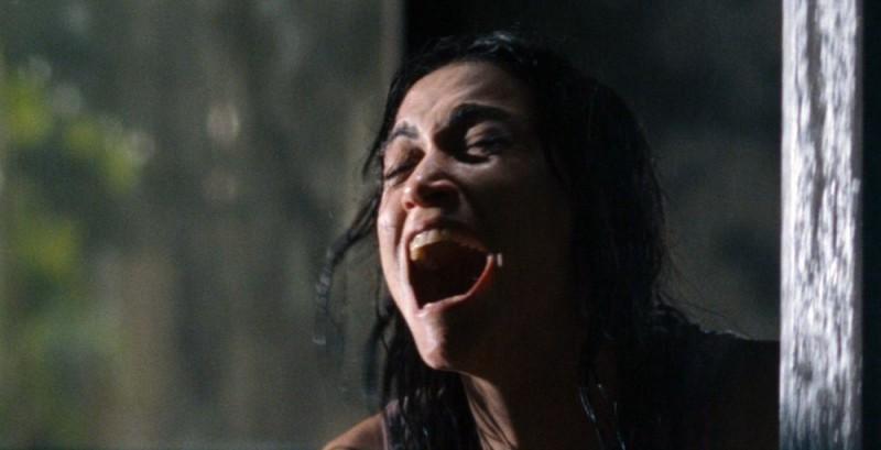 Morjana Alaoui in una sequenza del film Martyrs