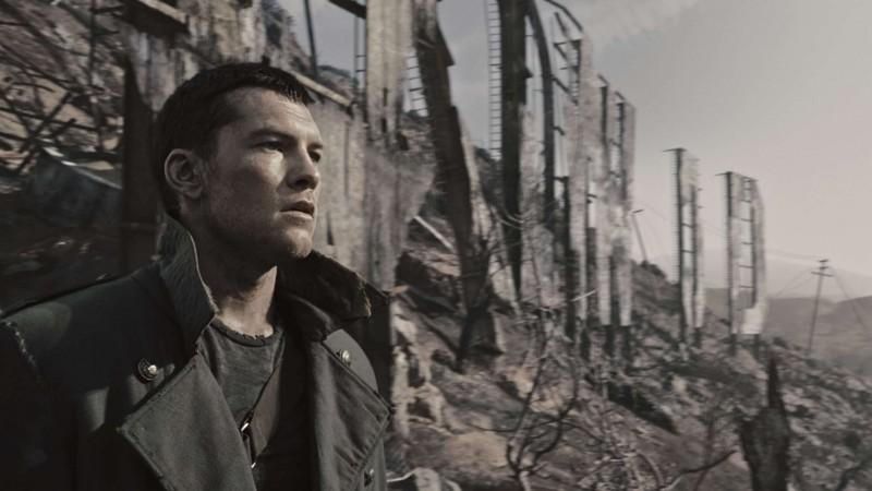 Sam Worthington in una scena di Terminator Salvation
