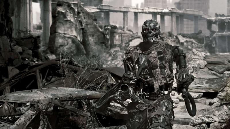Un T-600 in una scena di Terminator Salvation