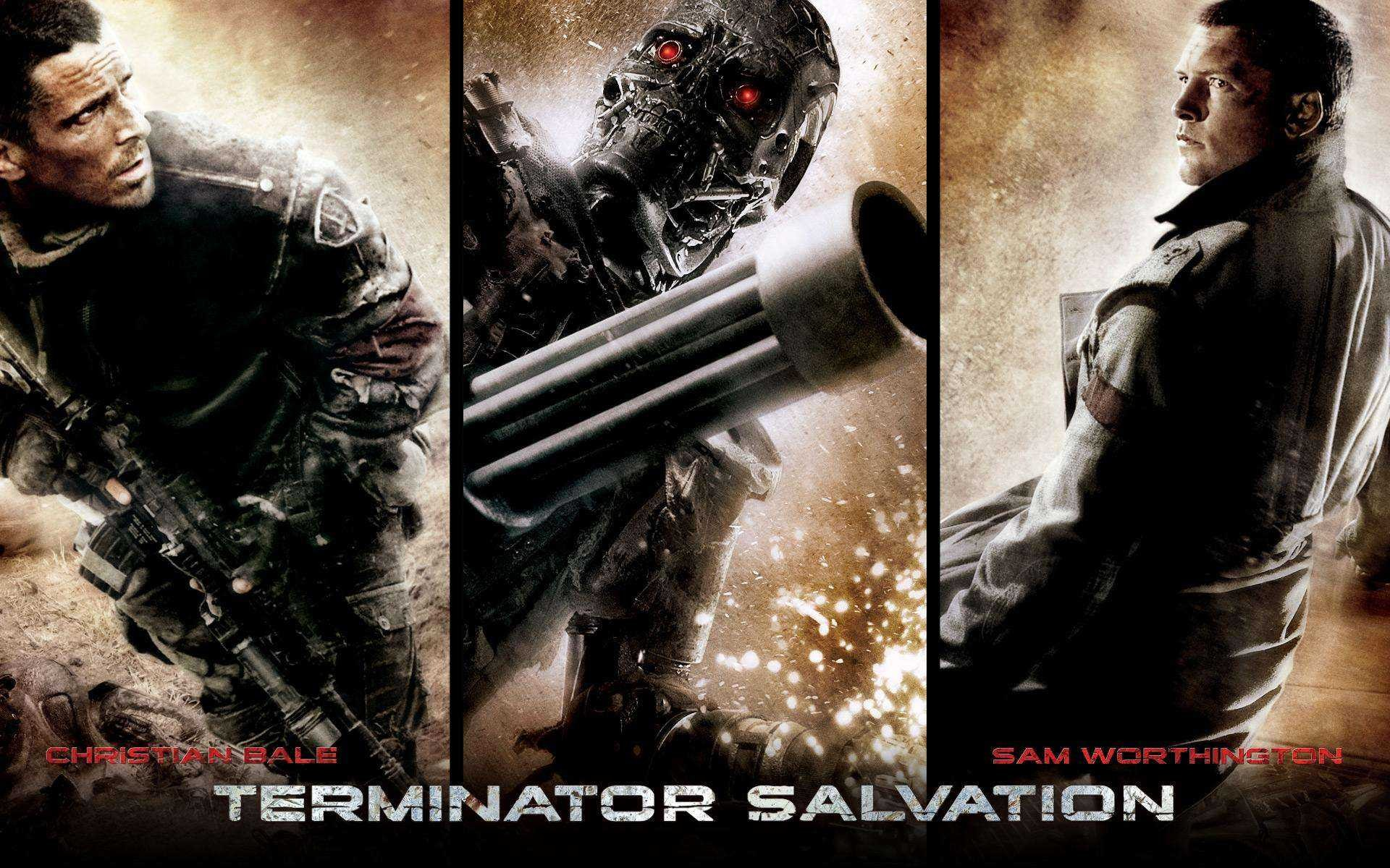 Un wallpaper del film Terminator Salvation