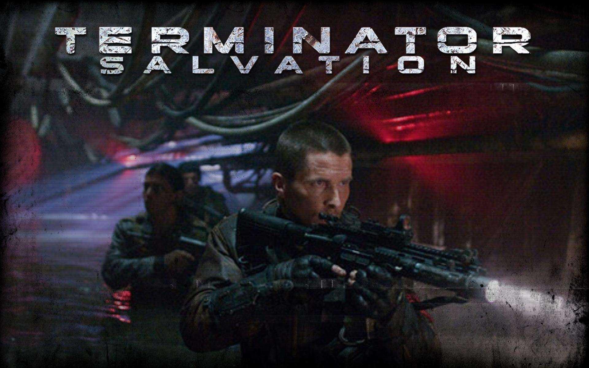 Un wallpaper di Terminator Salvation con Christian Bale