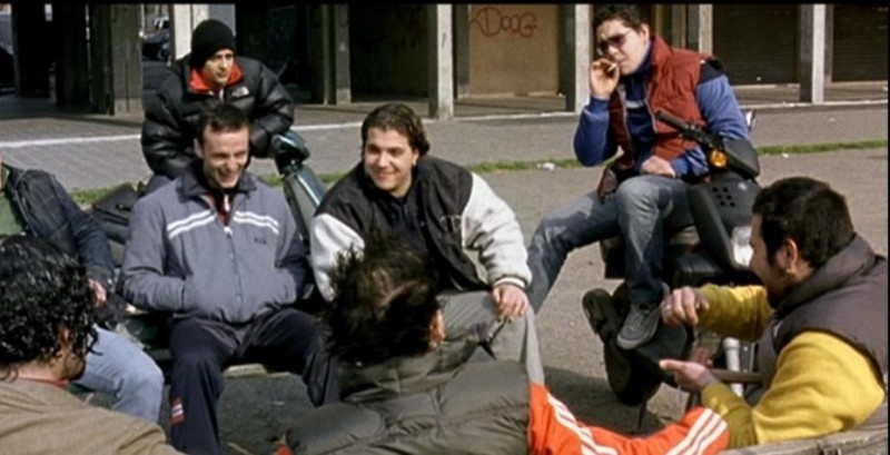 Una immagine di Joel Bossi sul set