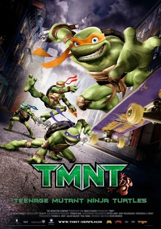 Una locandina di TMNT: Teenage Mutant Ninja Turtles