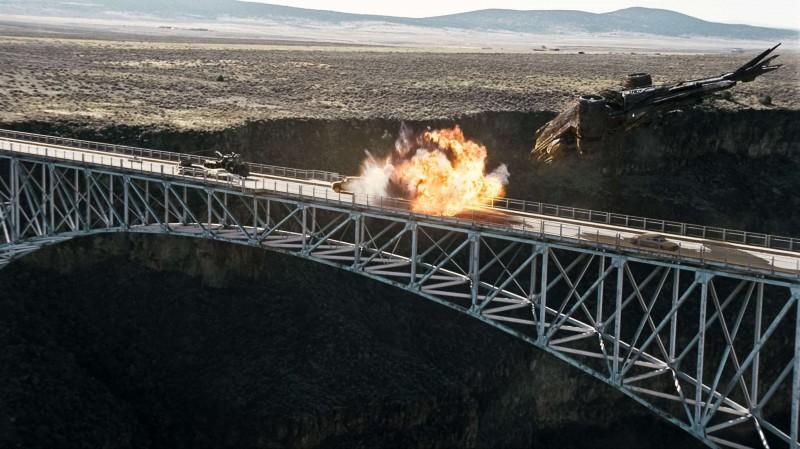 Una scena dell'action movie Terminator Salvation