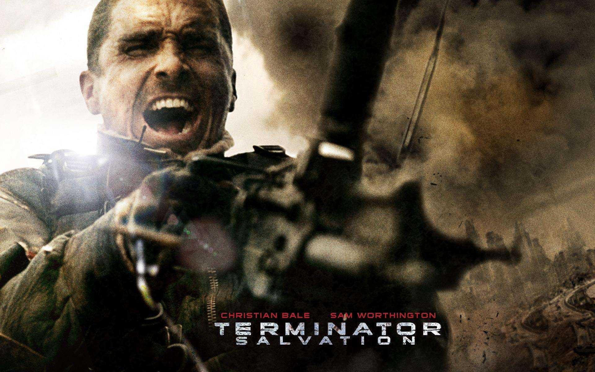 Wallpaper del film Terminator Salvation con Christian Bale