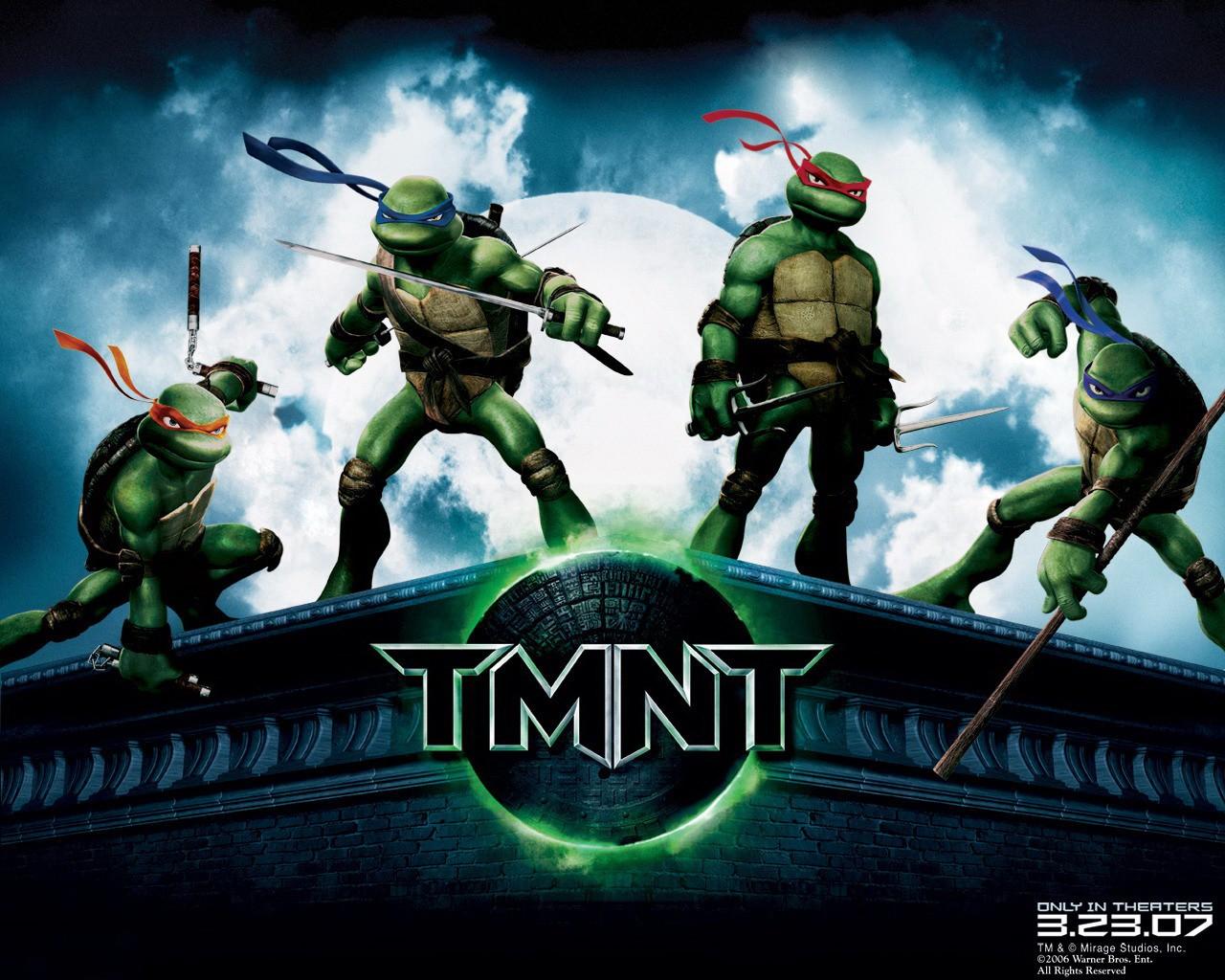 Wallpaper delle quattro tartarughe ninja del film 'TMNT: Teenage Mutant Ninja Turtles'