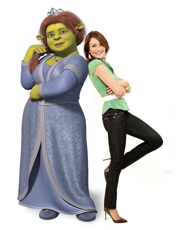 Cameron Diaz è la doppiatrice della Principessa Fiona nel film 'Shrek the Third'