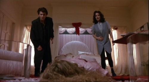 Christian Slater, Winona Ryder e Kim Walker in una scena di Scheggie di follia