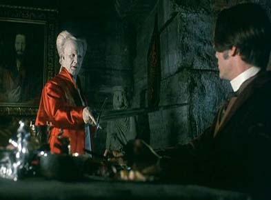 Gary Oldman e Keanu Reeves (di spalle)  in una scena di Dracula di Bram Stoker