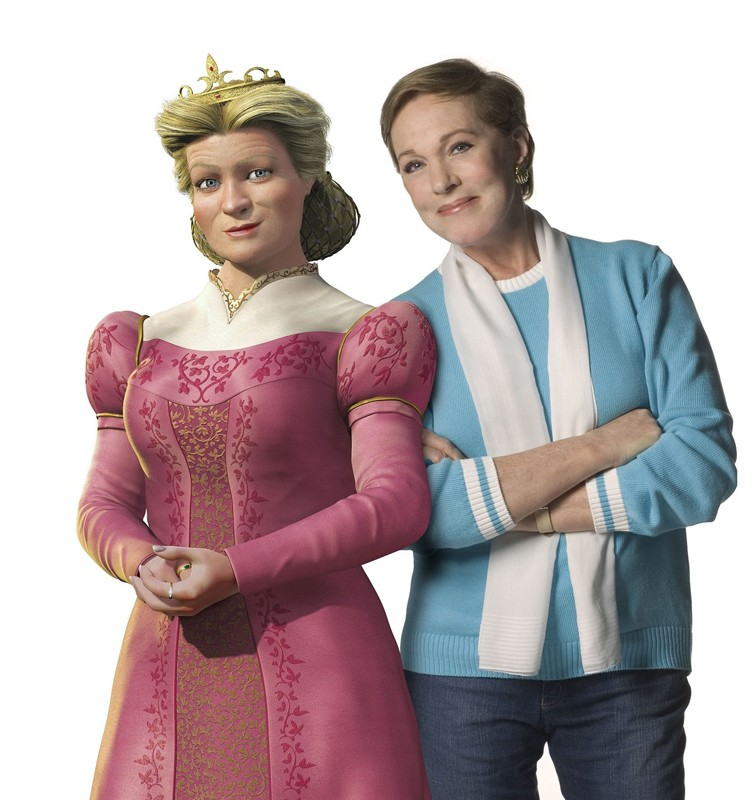 Julie Andrews è la doppiatrice della Regina Lillian nel film 'Shrek the Third'