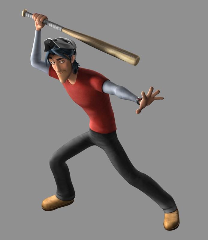 Un'immagine promozionale di Casey Jones per il film 'TMNT'