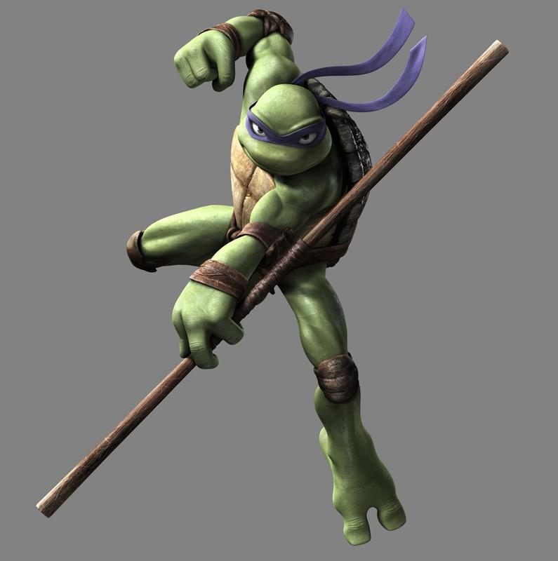 Un'immagine promozionale di Donatello per il film 'TMNT'