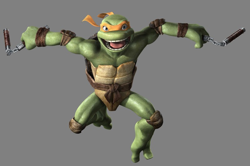 Un'immagine promozionale di Michelangelo per il film 'TMNT'