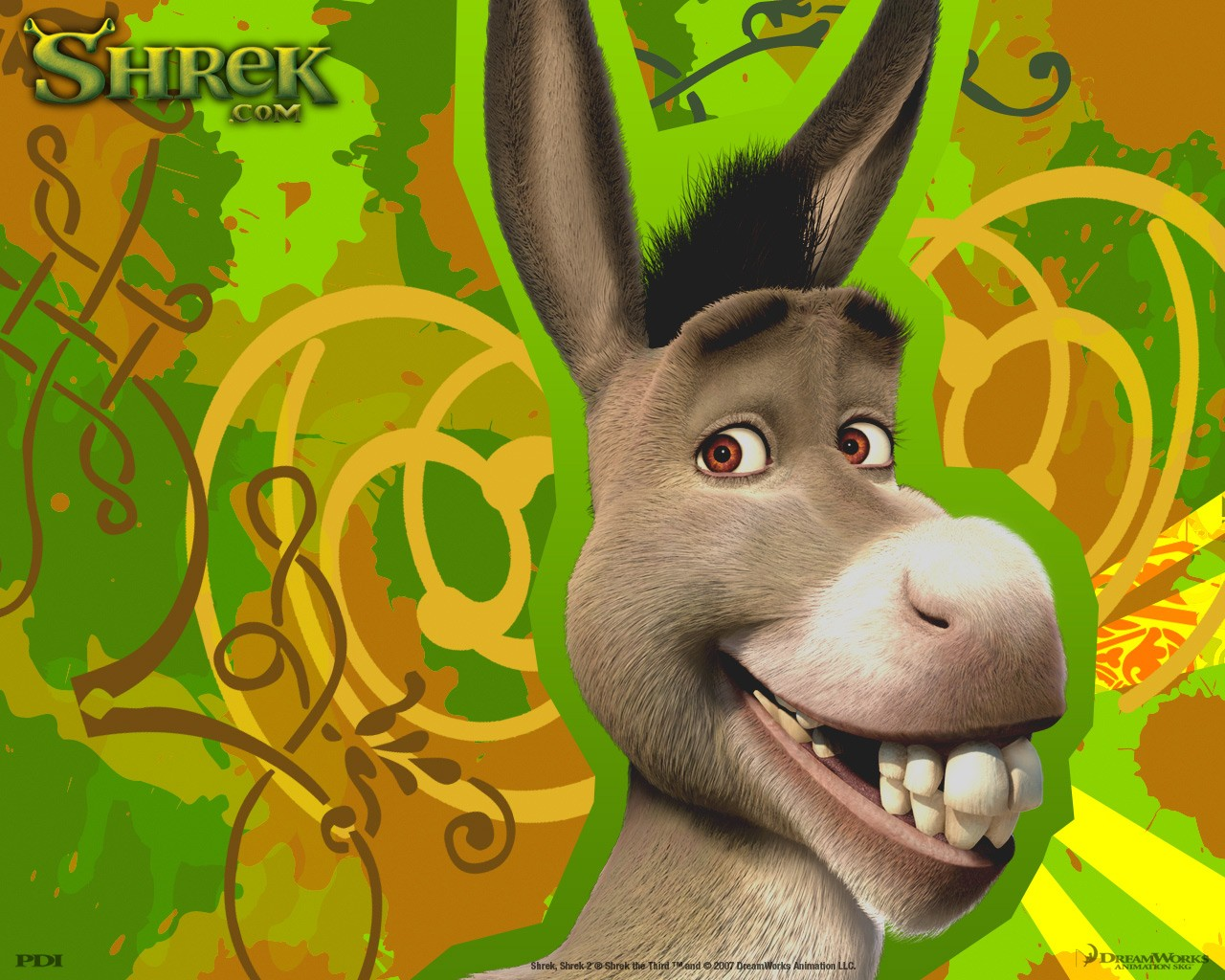 Un wallpaper di Ciuchino(Donkey) per il film 'Shrek Terzo'