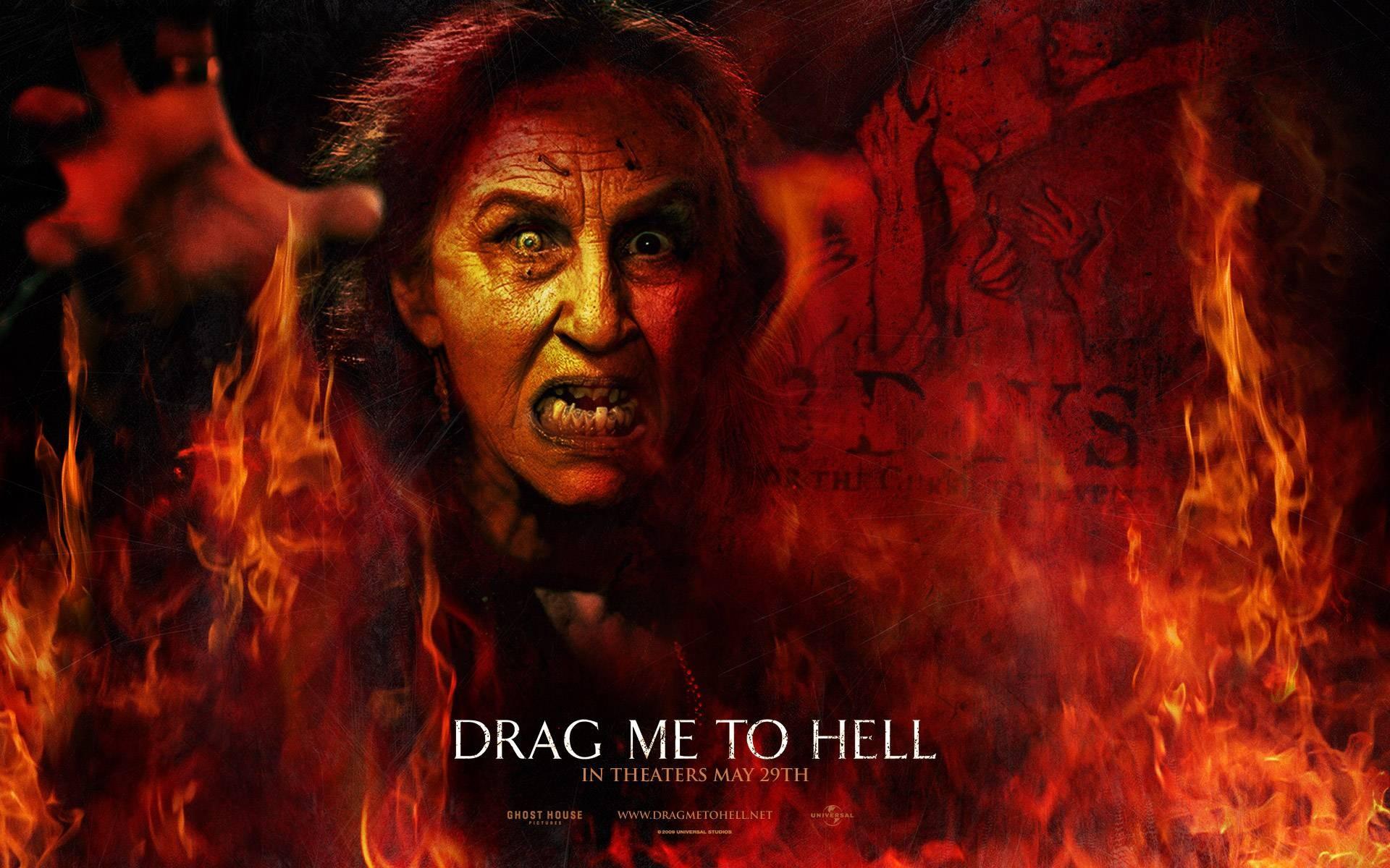 Un wallpaper del film horror Drag Me to Hell