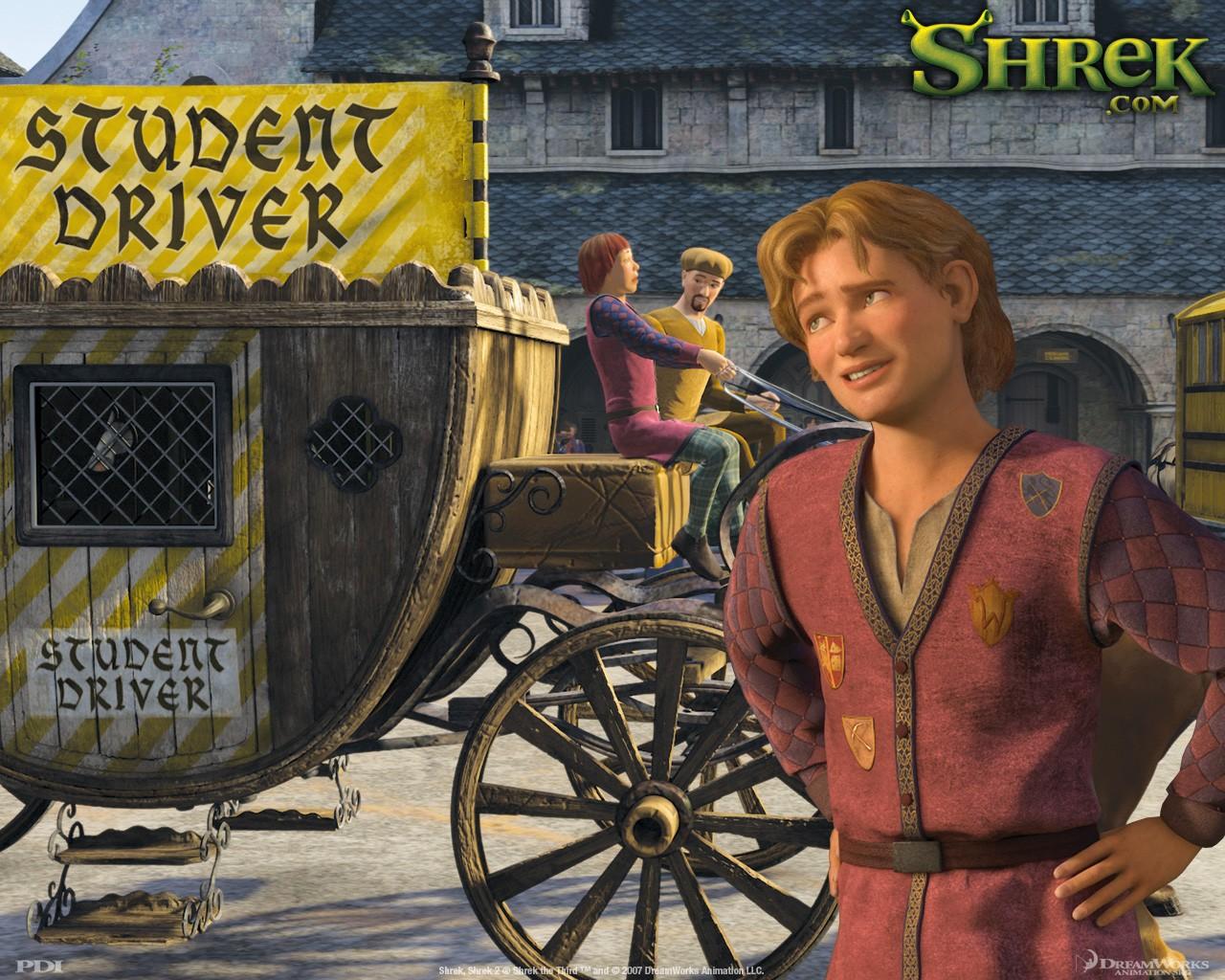 Un wallpaper di Artie per il film 'Shrek Terzo'