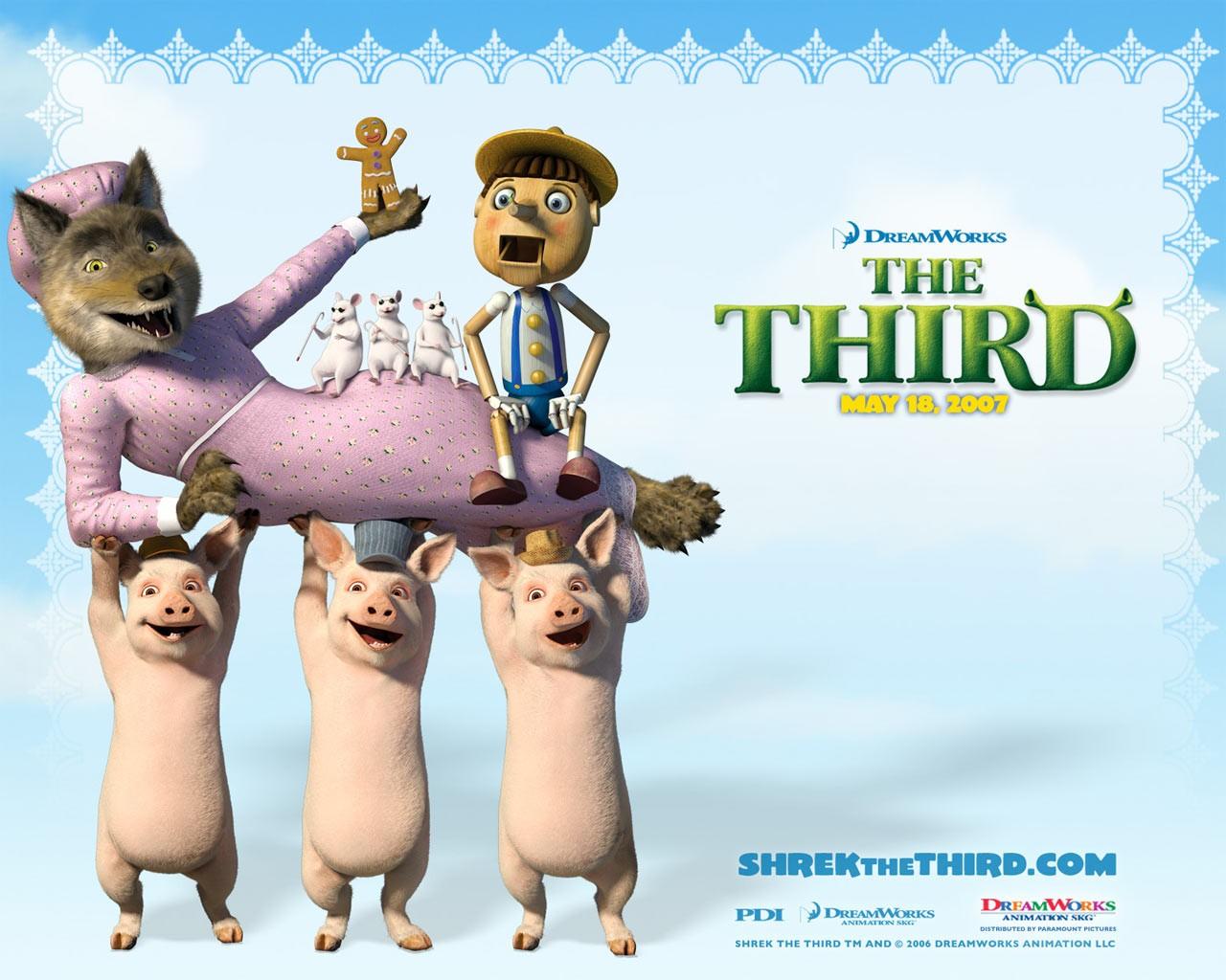 Un wallpaper di gruppo per il film 'Shrek terzo'
