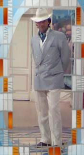 Germano Di Renzo durante uno sketch televisivo
