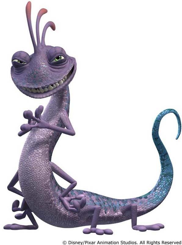 Il cattivo Randall in un'immagine promozionale di 'Monsters Inc.'