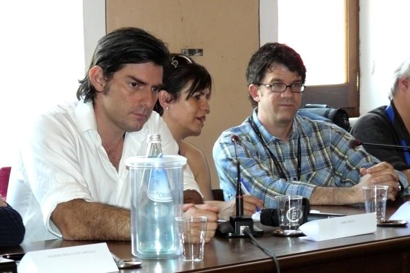 Il regista di New Moon, Chris Weitz durante un incontro con la stampa a Montepulciano
