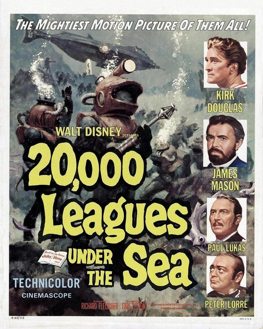 La locandina di 20000 leghe sotto i mari