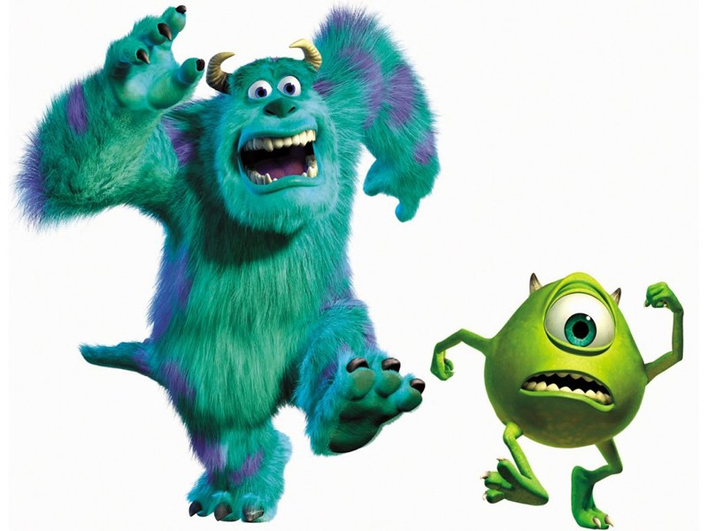 Mike e Sulley in corsa per il film 'Monsters & Co.'