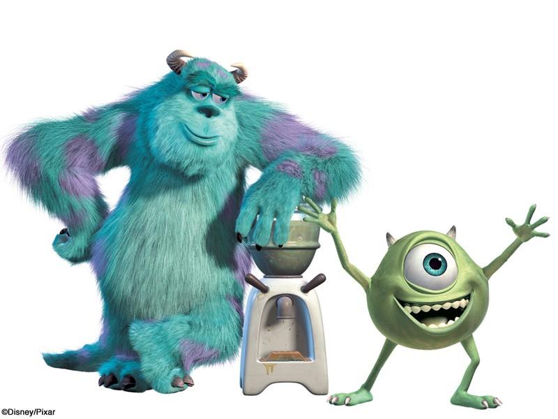 Mike e Sulley in un'immagine promo per il film 'Monsters & Co.'