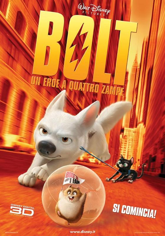Un manifesto pubblicitario italiano per 'Bolt'