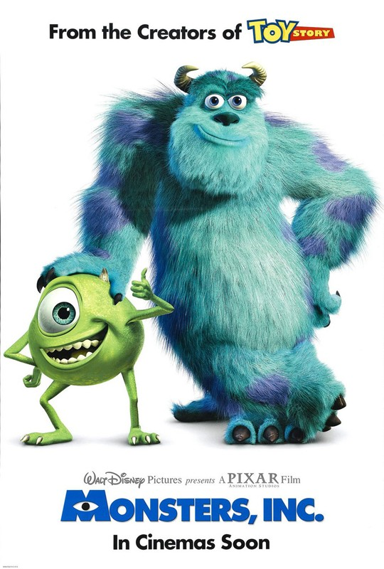 Un manifesto pubblicitario per il film 'Monsters Inc.'