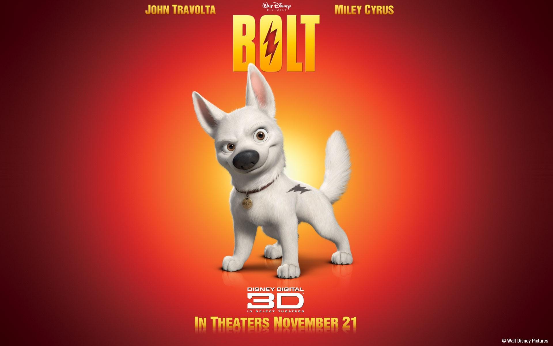 Un wallpaper del cagnolino Bolt nel film 'Bolt - un eroe a quattro zampe'