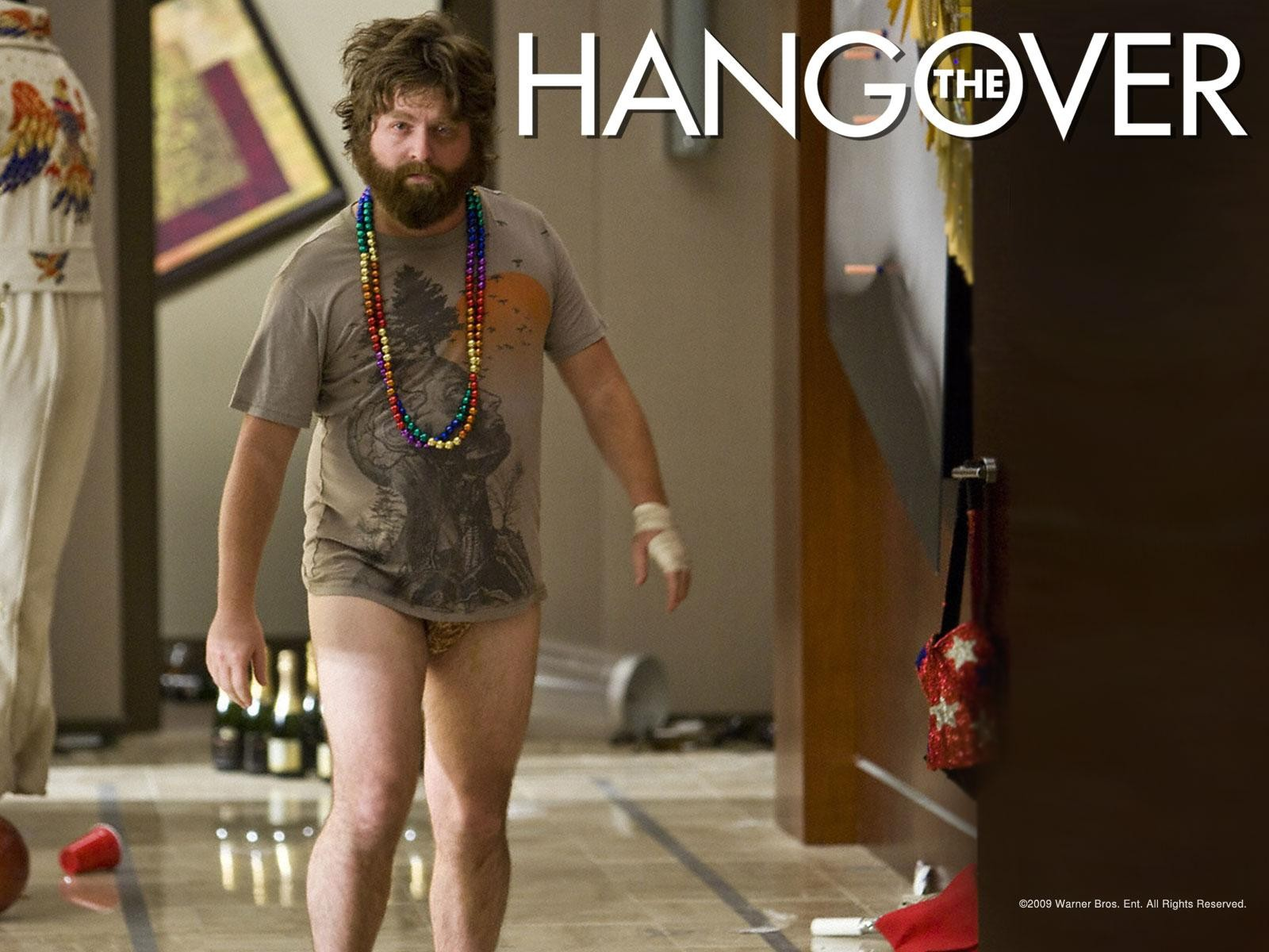 Un wallpaper del film Una notte da leoni con Zach Galifianakis